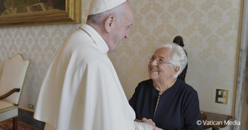 Pope Francis with Maria Voce