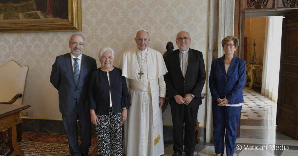 Pope Francis with the Delegates from the Focolare Movement